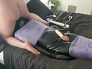 'Getting Off with my Latex Bondage Sub wearing 6...