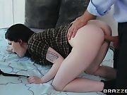 Hot Brunette Vixen Evelyn Claire Gets Cock For Art's...